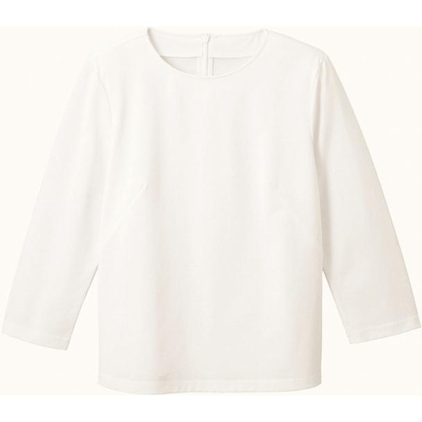 七分袖シームT(天竺)WP359(S)(ホワイト) 1