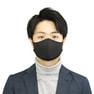 接触冷感マスク 5枚セット(薄手/大きめタイプ)【ブラック】 3