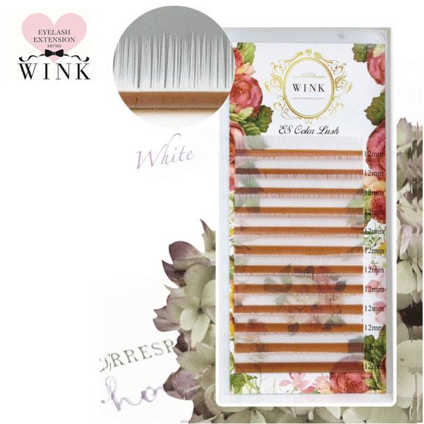【WINK】ホワイト[Cカール 太さ0.15 長さ7mm]