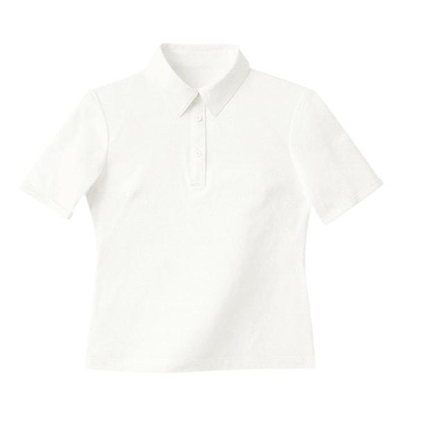 半袖きれいポロ(天竺)WP301-17(L)(ホワイト) 1