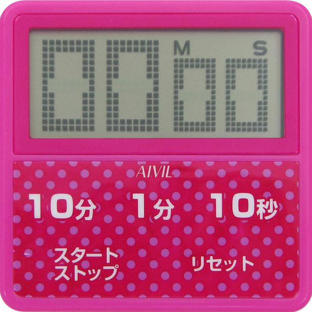 防滴大画面タイマーT-163PK ピンク
