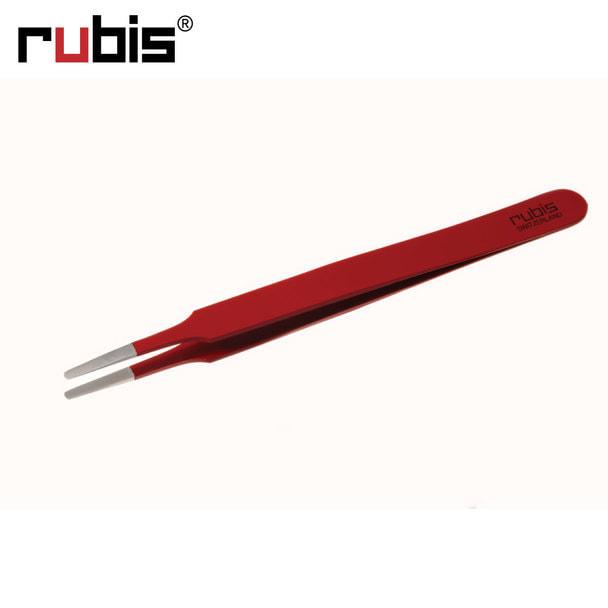 【rubis】アイラッシュ用丸ツイーザー レッド