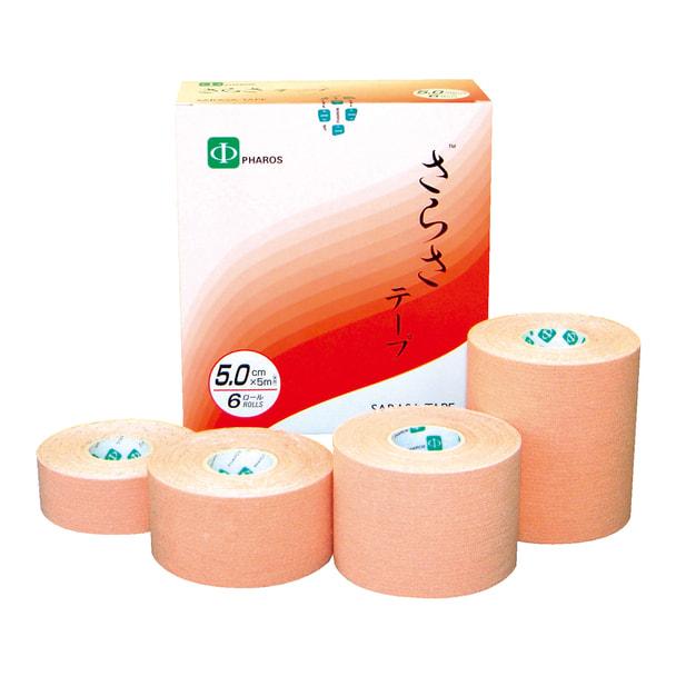 さらさ伸縮テープ 2.5cm×5m【12巻入】(ベージュ) 1