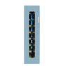 殺菌スリッパ保管庫 UVクリーン DXタイプ 8足保管 右取手 (ブルー)