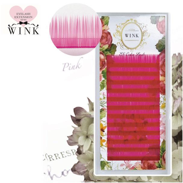 【WINK】ピンク[Jカール 太さ0.15 長さ8mm]