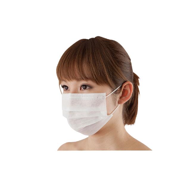 三層フェイスマスク SP(50枚入・ホワイト) 1