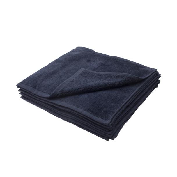 ハンドタオル(シャーリング加工)25×25cm 12枚入り(ブラック) 1