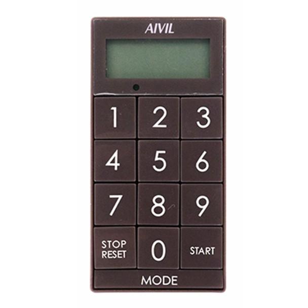 アイビル デジタルタイマー スリムキューブ(ブラウン)Z-430BR