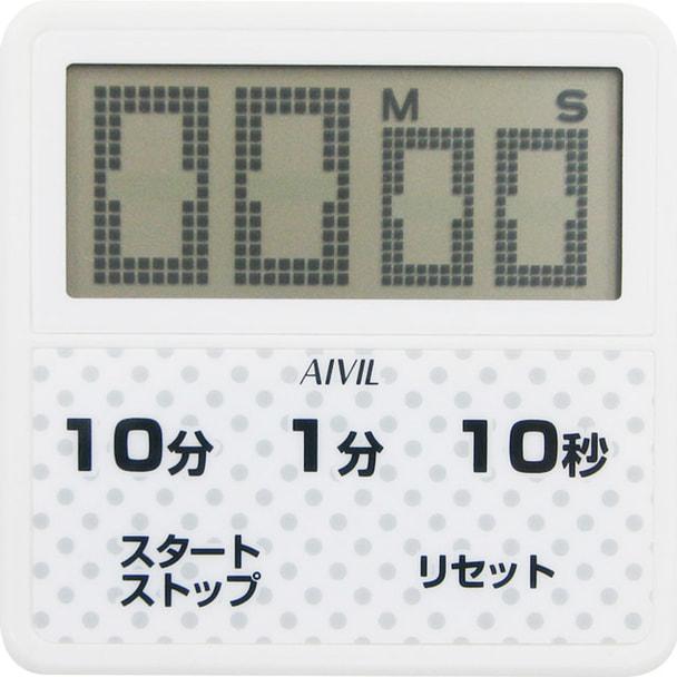 防滴大画面タイマーT-163WT ホワイト