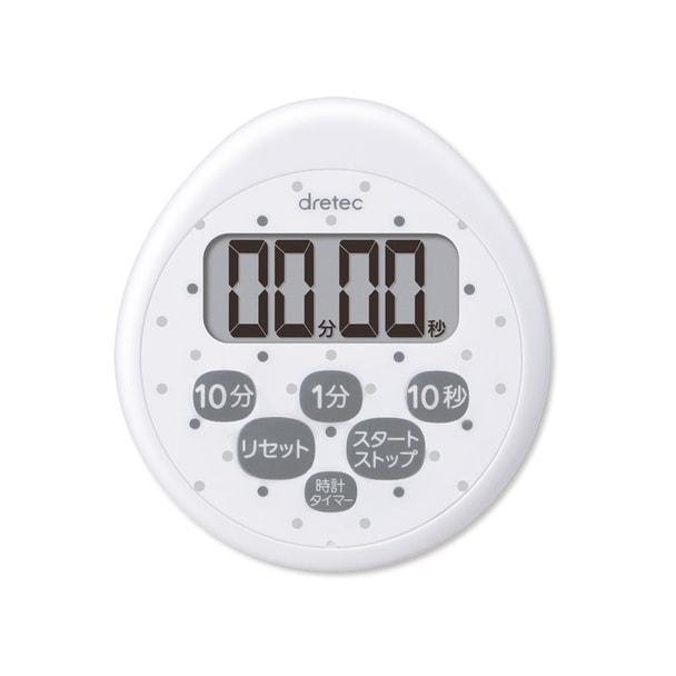 時計付防水タイマーT-565 ホワイト 1