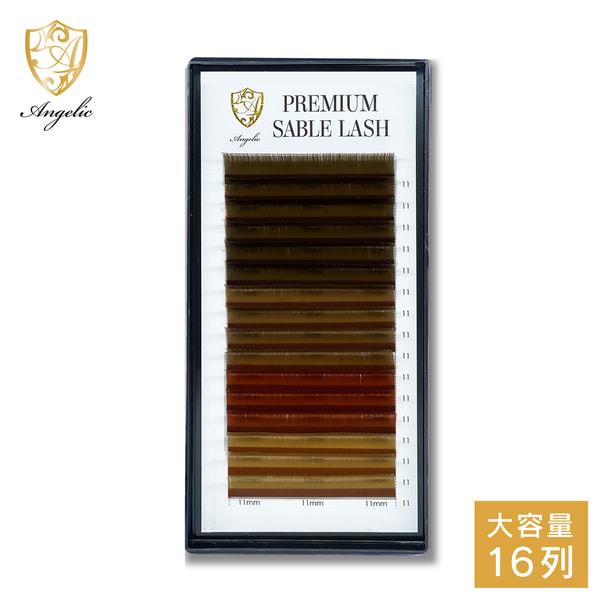 ボリュームラッシュ <ブラウン>4色カラー[Dカール太さ0.07長さ11mm] (16列) 1