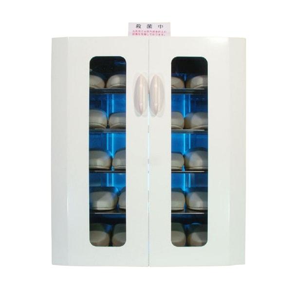 殺菌スリッパ保管庫 UVクリーン DXタイプ ワイド10足仕様 (ホワイト)