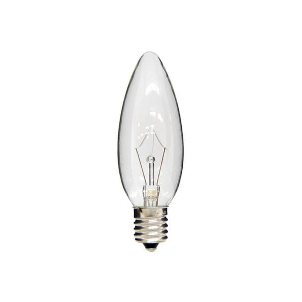 シャンデリア電球C32 E17口金 100/110V 40W