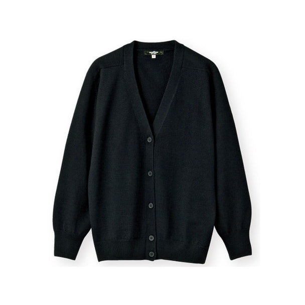 NCDカーディガン(長袖)56-027(L)(黒) 1