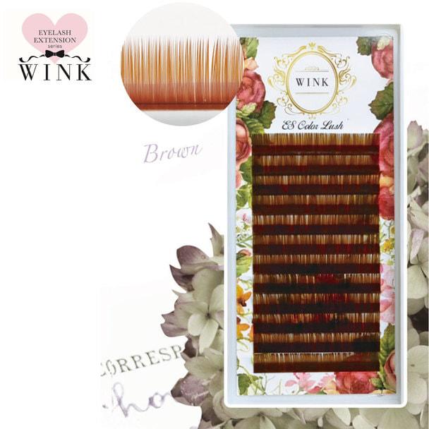 【WINK】ブラウン[Cカール 太さ0.15 長さ7mm]