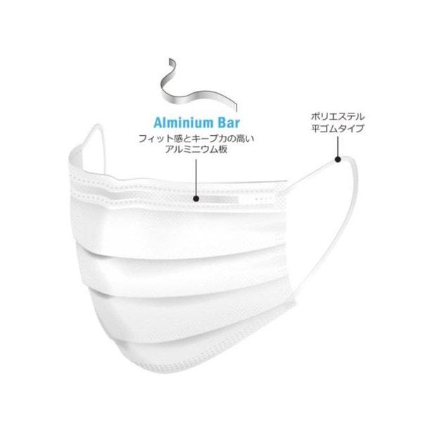 メディコムジャパン プロレーンマスク(ホワイト)50枚入 1