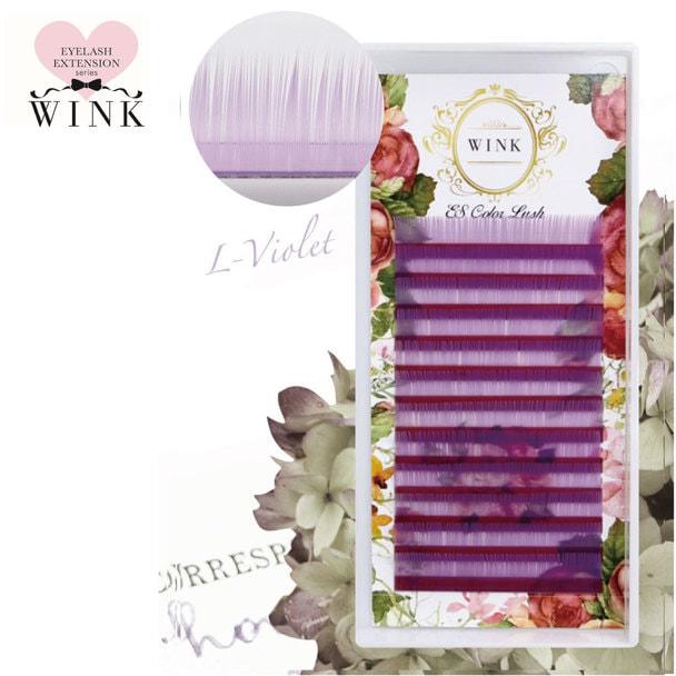 【WINK】Lバイオレット[Bカール 太さ0.15 長さ14mm]