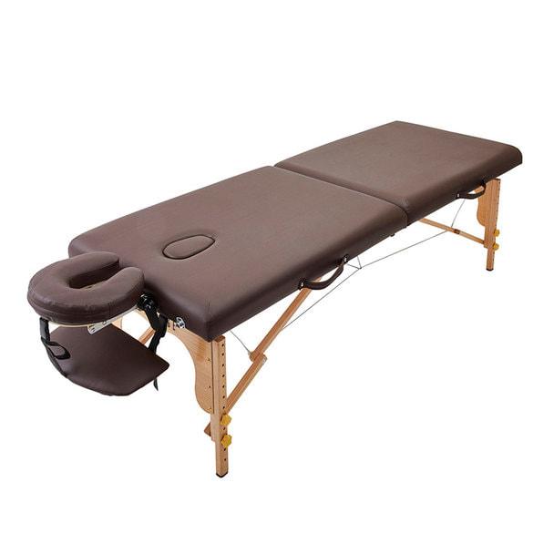 軽量木製折りたたみベッド EB-03DX(キャリーバッグ付)(ダークブラウン) 1