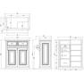 【シャビーシック】木製アンティークレジカウンター VICTOIRE-900(ヴィクトール)WT 6
