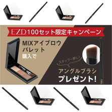 【EZD】MIXアイブロウパレット購入でアングルブラシ1本プレゼント!