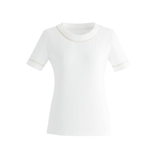 カットソーE-3121(L)(オフホワイト(ベージュライン)) 1