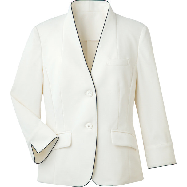ジャケット(裏なし)WP165-7(7号)(ホワイト) 1