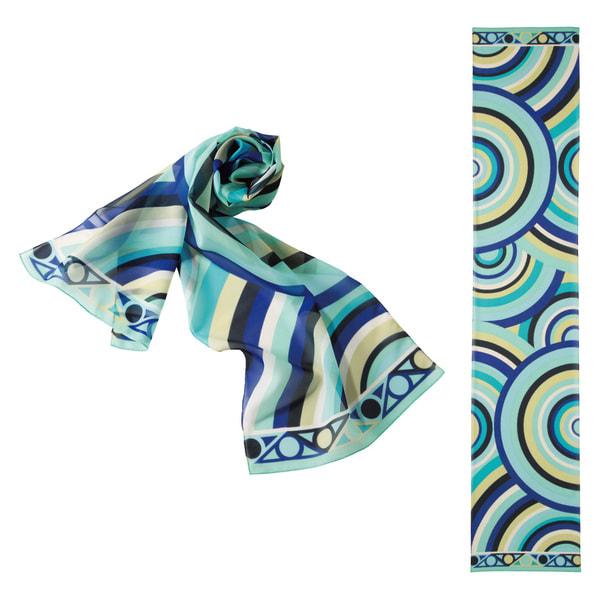 スカーフOP98(ブルー) 1