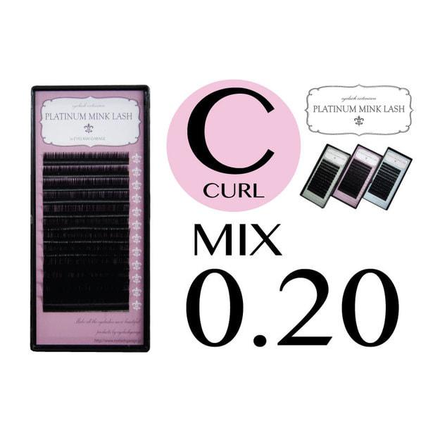 【プラチナミンクラッシュ】Cカール[太さ0.20][長さ8~13mmMIX] 1