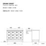 GRAM CHEST 4列3段 オールドウッドブラウン(278817) 7