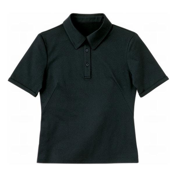 半袖きれいポロ(天竺)WP301-8(3L)(ブラック) 1