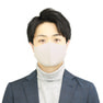 接触冷感マスク 5枚セット(薄手/大きめタイプ)【グレー】 3