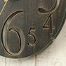 壁掛け時計 レトロ(56921)ブラウン 6